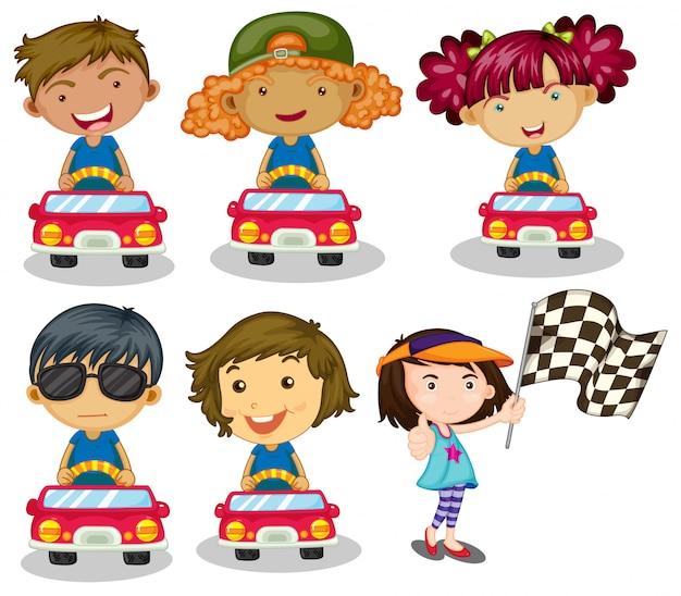 Course de voitures pour enfants