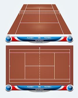 Court de tennis vide