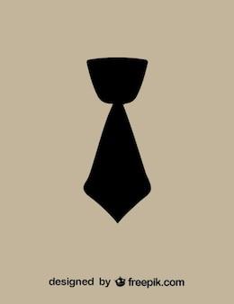 Courte cravate icône noire