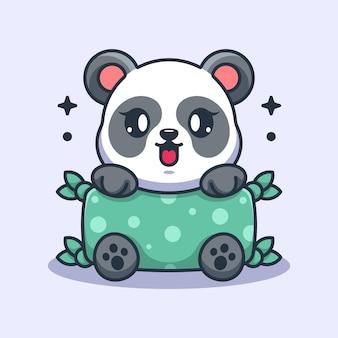 Coussin étreignant mignon bébé panda