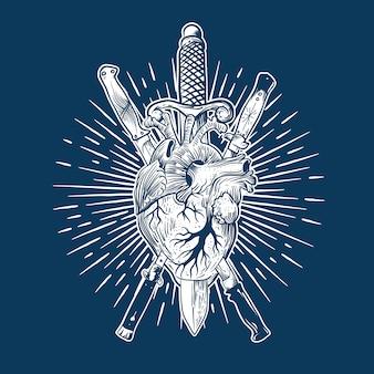 Couteau coeur