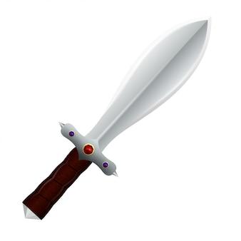 Couteau à double tranchant