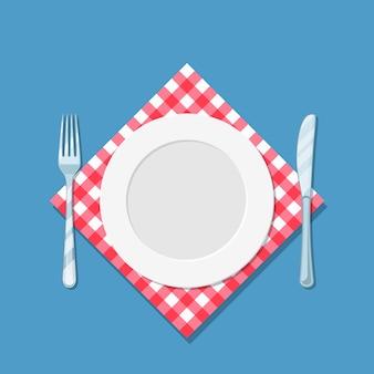 Couteau et fourchette à assiette