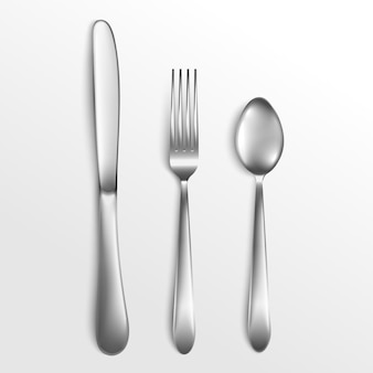 Couteau et fourchette, cuillère.
