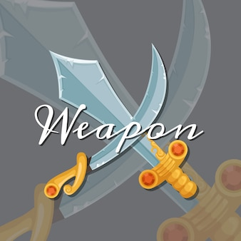 Couteau à lame et sabre militaire