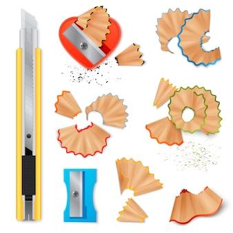 Couteau pour affûtage et copeaux de crayons