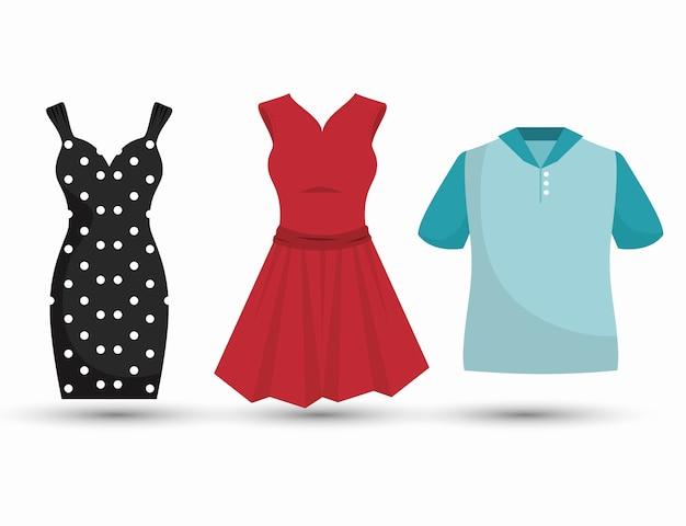Couture vêtements conception d'icône isolé