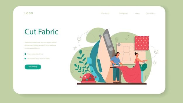 Couturière ou personnaliser la bannière web ou la page de destination