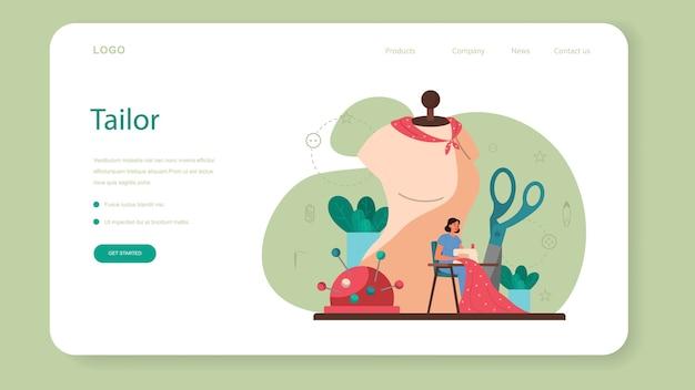 Couturière ou personnaliser la bannière web ou la page de destination.