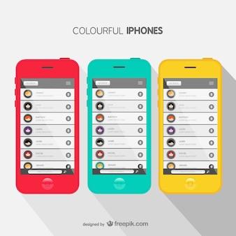 Couvercles colorés iphone