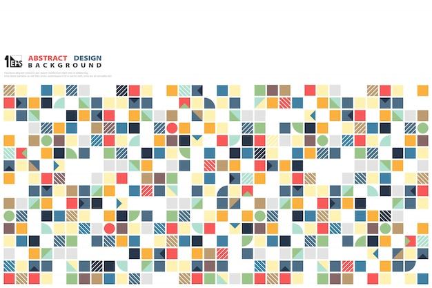 Couverture abstrait coloré motif géométrique