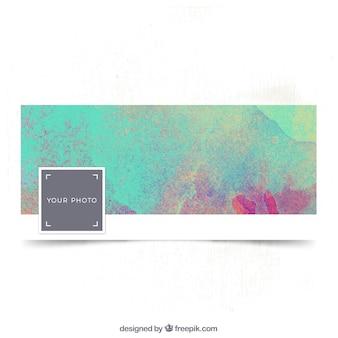 Couverture abstraite d'aquarelle facebook