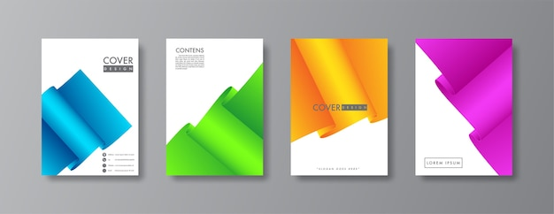 Couverture abstraite et conception de brochure.