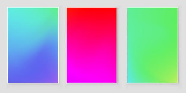 Couverture abstraite dégradé de couleurs vives.