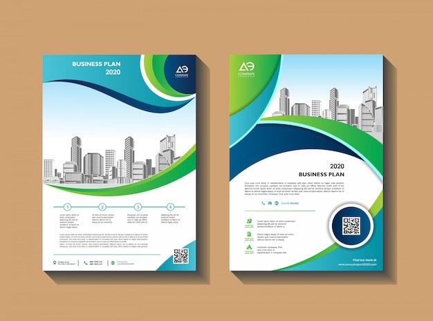 Couverture abstraite d'entreprise avec une mise en page moderne