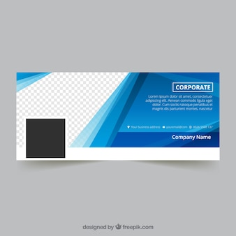 Couverture abstraite de facebook en couleur bleue
