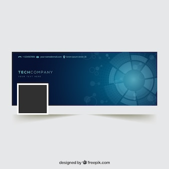 Couverture abstraite de facebook pour les entreprises