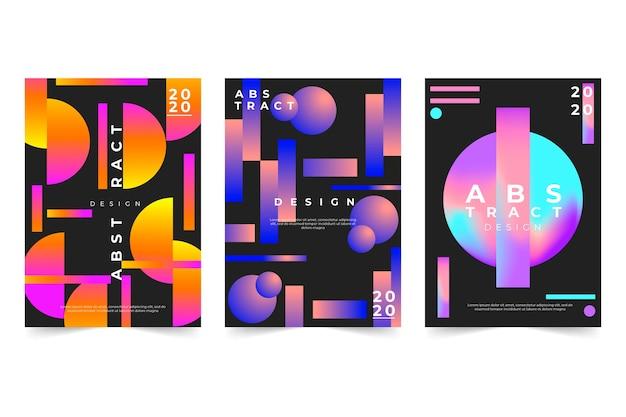Couverture abstraite avec des formes de dégradés géométriques