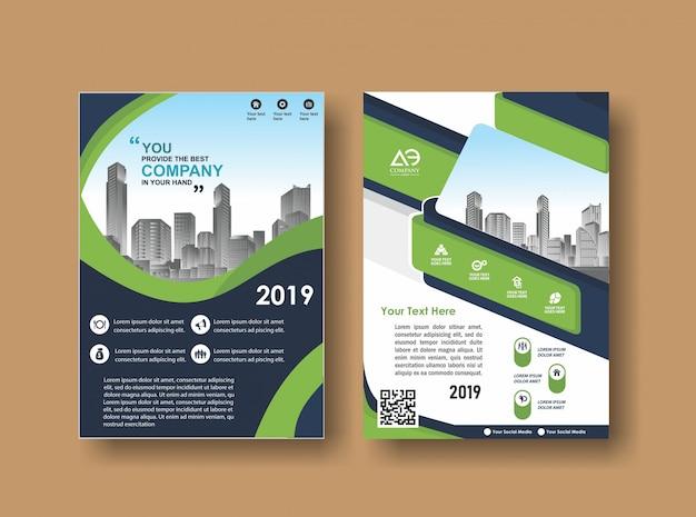 Couverture abstraite et mise en page pour la présentation et le marketing