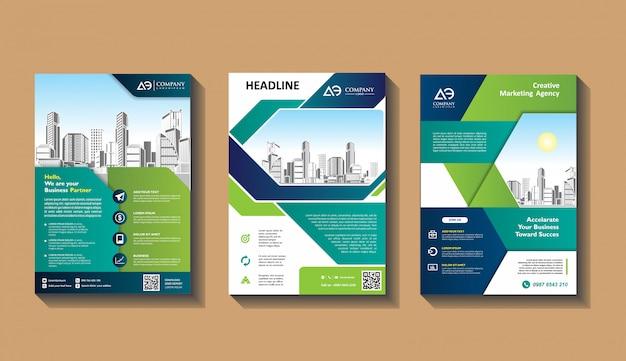 Couverture abstraite et mise en page pour présentation et marketing
