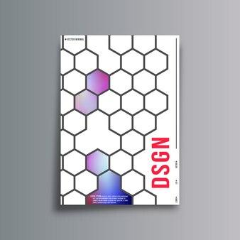 Couverture abstraite avec motif en nid d'abeille