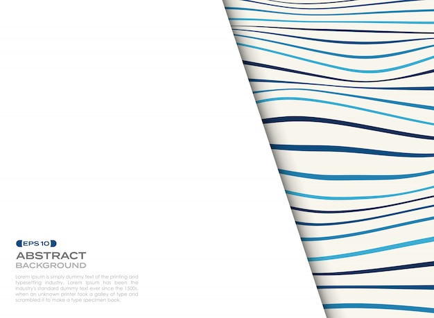 Couverture abstraite de motif ondulé bleu avec espace libre de fond du texte.