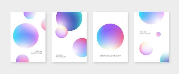 Couverture abstraite sertie de formes de cercle 3d colorées