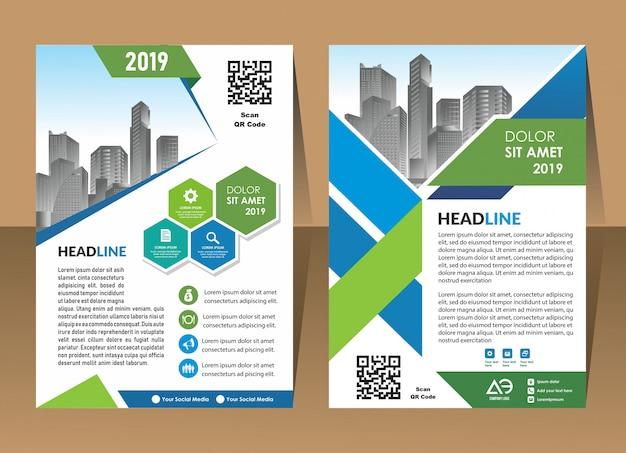 Couverture affiche brochure flyer design template vecteur