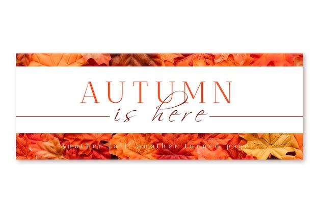 Couverture d'automne facebook