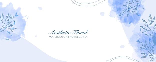 Couverture de bannière large à l'aquarelle ou publicité de page web. aquarelle abstraite éclaboussure bleu clair brillant modèle de fond vecteur vertical large. pour la beauté, le mariage, le maquillage, les bijoux. féminin romantique
