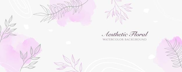Couverture de bannière large à l'aquarelle ou publicité de page web. aquarelle abstraite éclaboussure rose pastel brillant modèle de fond vecteur vertical large. pour la beauté, le mariage, le maquillage, les bijoux. féminin romantique
