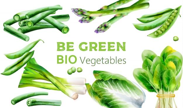 Couverture bio menu avec divers légumes.