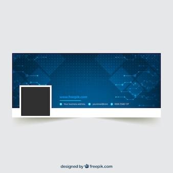 Couverture bleue abstraite de facebook