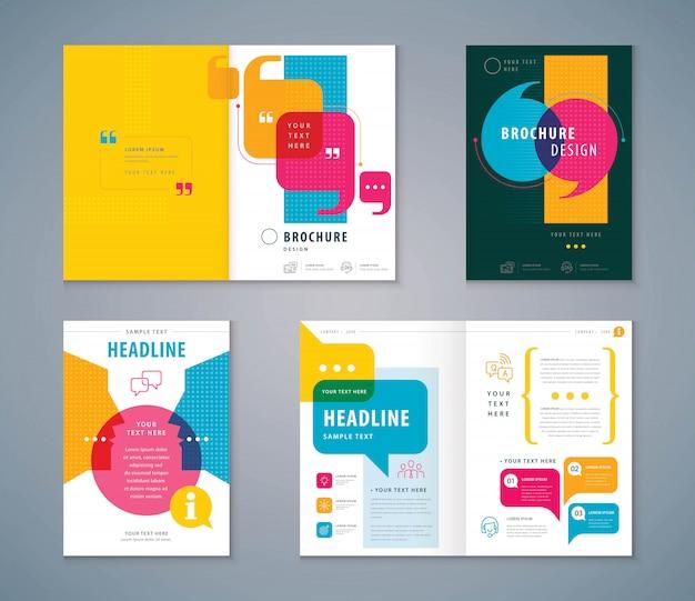 Couverture book design set