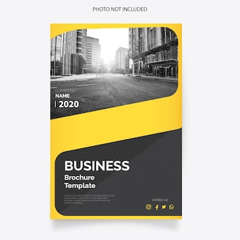 Couverture de brochure d'affaires moderne