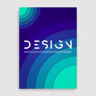 Couverture de la brochure géométrique. un modèle de taille.
