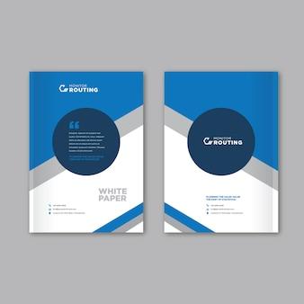 Couverture de brochure en papier blanc