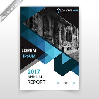 Couverture de brochure verticale polygonale