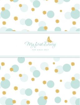 Couverture de carnet mignonne pour les filles avec des confettis de paillettes