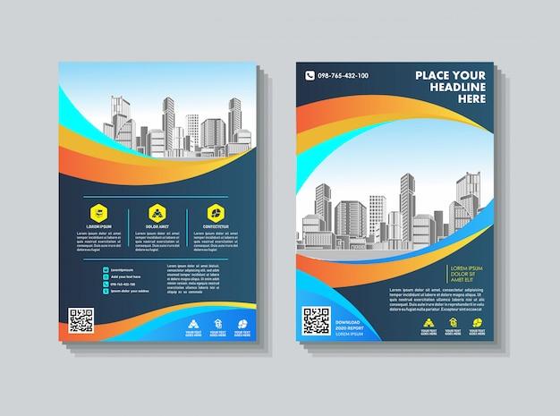 Couverture catalogue brochure magazine pour rapport annuel