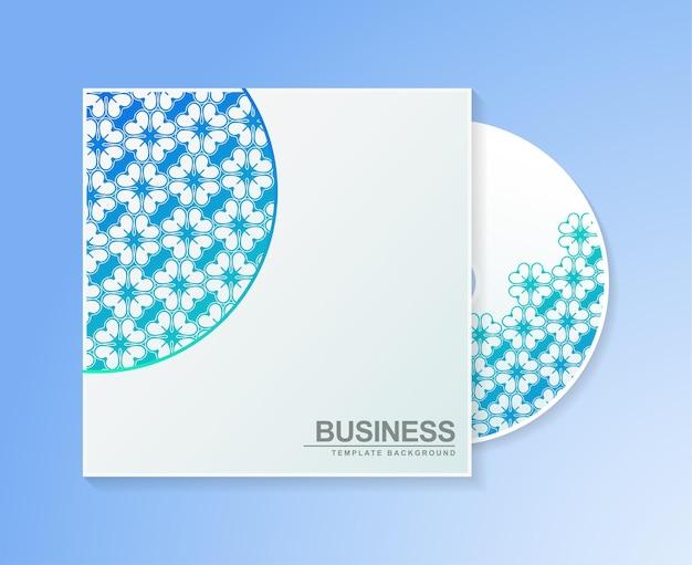 Couverture de cd dégradé avec texture motif floral