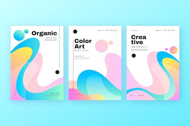 Couverture colorée abstraite