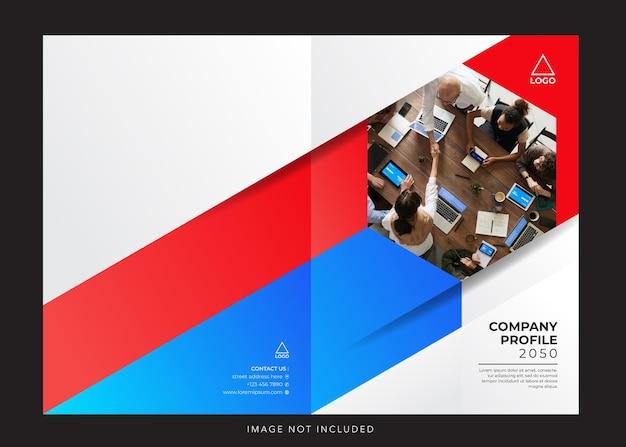 Couverture de conception de profil d'entreprise