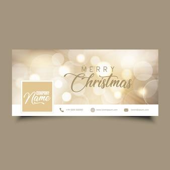 Couverture de la chronologie des médias sociaux avec motif de Noël