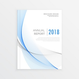 Couverture du magazine modèle de brochure d'entreprise de conception de modèle pour le rapport annuel en format A4
