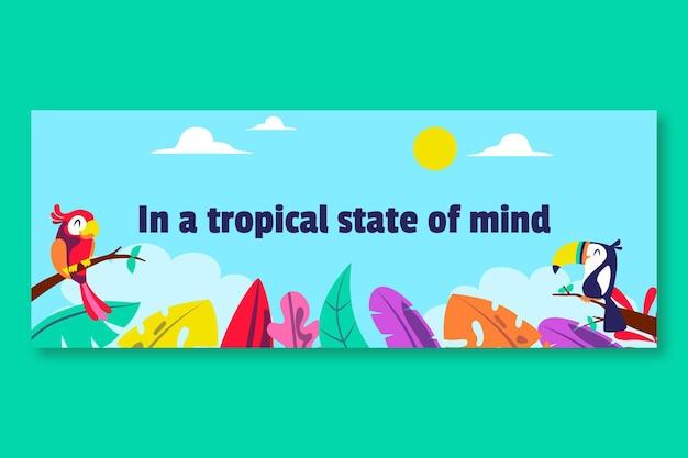 Couverture du profil des médias sociaux de la saison tropicale colorée