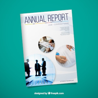 Couverture du rapport annuel créatif avec image