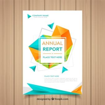 Couverture du rapport annuel avec des formes géométriques
