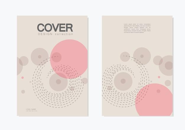 Couverture de l'entreprise de brochures avec cercle abstrait tourbillon