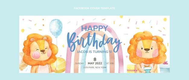 Couverture facebook anniversaire dessinée à la main